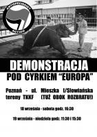 Demonstracja pod cyrkiem Europa